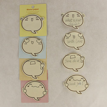 1pcs lot Office Supplies Cute Big Face N Times Sticky Notes Memo Pad Paper Sticker Post It Notepad Gift Stationery