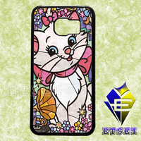 The Aristocats Marie Cat Stain Glass case For Samsung Galaxy S3/S4/S5/S6 Regular/S6 Edge and Samsung Note 3/Note 4 case
