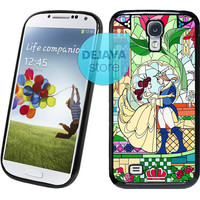 Beauty and The Beast Rose Glass Samsung Galaxy S4 Case