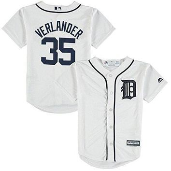 Justin Verlander Detroit Tigers White Youth Cool Base Home Replica Jersey