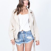 Zipped in Linen Jacket