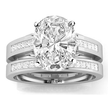 1.28 Carat GIA Certified  Diamond Engagement Ring & Wedding Band