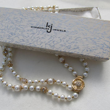 KIMBERLEE JEWELS Faux Pearl Necklace