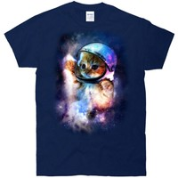 Astronaut Cat In Space T-Shirt