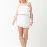 6th & Lane lace romper cover up