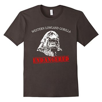 Gorilla ENDANGERED T-shirt by Scarebaby