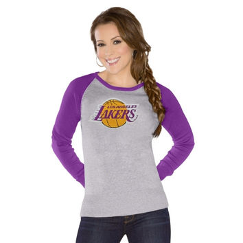 Touch by Alyssa Milano Los Angeles Lakers Ladies Fan For Life Sweater - Gray/Purple