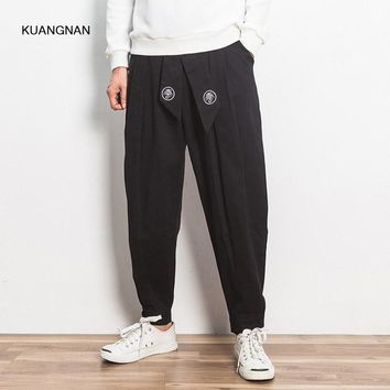 Spring Autumn Men Casual Pant High Quality China Style Male Loose Harem Trousers Plus Size Jogger Sweatpants