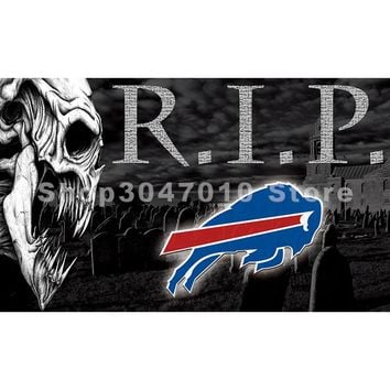 home decoration skull Football Buffalo Bills Large Outdoor Banner Custom flag