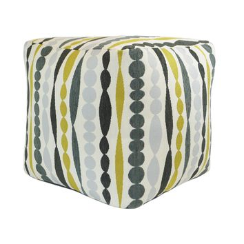 Cube Pouf in Bing Bang Quince