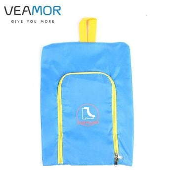 VEAMOR Shoes Bags Polyester Travel Pack Shoe Pouch Waterproof and Dustproof Pink Blue