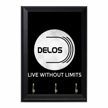 Westworld Delos Live Without Limits Decorative Wall Plaque Key Holder Hanger