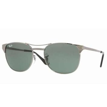 Ray-Ban RB 3429 004-53 Unisex Icons Metal Frame Gray Transparent Lenses Sunglasses