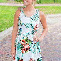 Sweet Harmony Meadows Dress - White
