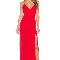 NBD x Naven Twins Honey Maxi Dress in Red