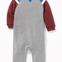 French-Terry Raglan One-Piece for Baby | Old Navy