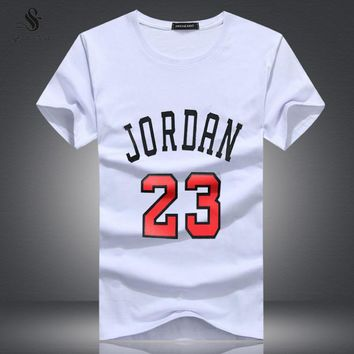 Clothing Jordan 23 Men T-shirt Swag T-Shirt Print Men T Shirt Homme Fitness Camisetas