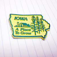 vintage iowa magnet by VintageWoods on Etsy