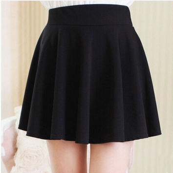 Women Spring Summer sexy Skirt lady Short Skater 2016 New arrival free shipping female mini Skirt