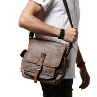 Water washed canvas crossbody bags with leather trims - $84.60 : Notlie handbags, Original design messenger bags and backpack etc