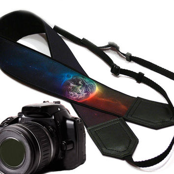 Galaxy Camera Strap. Space camera strap. DSLR / SLR Camera Strap. For Sony, canon, nikon, panasonic, fuji and other cameras.