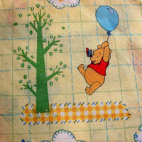 Winnie The Pooh Fabric Cotton Quilting Fabric Yellow 2 yards