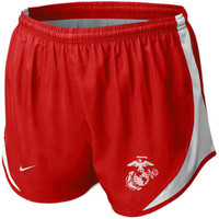 United States Marine Corps Nike Women's Tempo Performance Shorts – Red