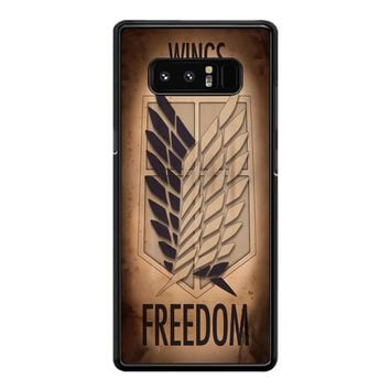Wings Of Freedomn Samsung Galaxy Note 8 Case