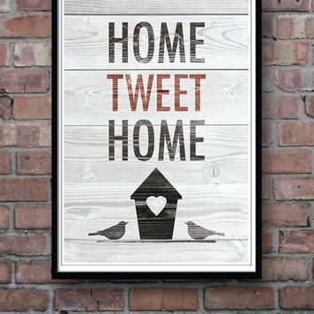 Housewarming Gift Poster, Wall Decor, Funny Wall Art, New Home Poster, Home Sweet Home