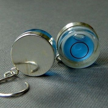 Level Earrings Sterling Silver Petite True Blue by sherrytruitt
