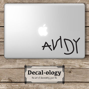 Andy Toy Story Disney - Apple Macbook Laptop Vinyl Sticker Decal
