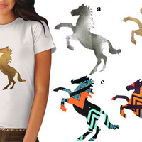 Horse Animal Heat Transfer Applique Design  for Fashion by KBazaar