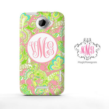 Chin Chin Elephant Lilly Pulitzer Monogram HTC Case M9, M8 Case