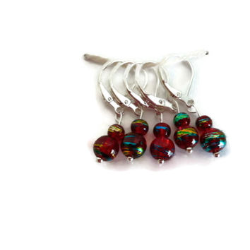 Crochet Stitch Markers, Beaded Stitch Markers, Row Counter, Crochet Accessory