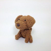 Vizsla crochet dog amigurumi puppy plush toy doggie stuffed animal / Made to Order