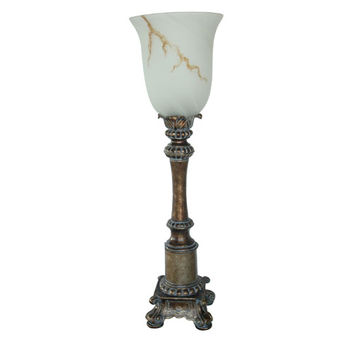 Crestview Collection CVAOP408 Soft Gold One-Light Torchiere Table Lamp