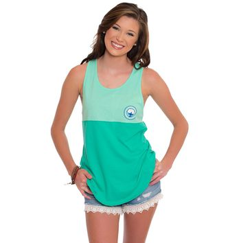 Colorblock Racerback Tank Top in Mint Leaf by The Southern Shirt Co. - FINAL SALE