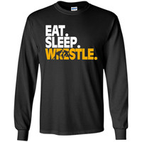 This Cool Wrestling Text design Shirt 'Eat. Sleep. Wrestle.'