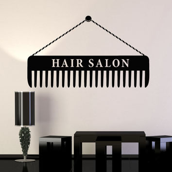 Vinyl Wall Decal Hair Salon Sign Hairdresser Scissors Decor Stickers Unique Gift (ig4724)