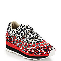 Stella McCartney - Mixed-Print Canvas Sneakers - Saks Fifth Avenue Mobile