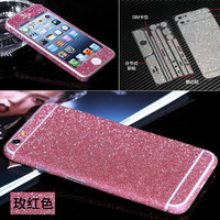 Luxury Glitter shiny 3M Sticker for iphone 5 5s 5se 6 6s plus matte sparkling body skin films phone protector case cover