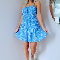 Go With The Floral Dress: Blue/White