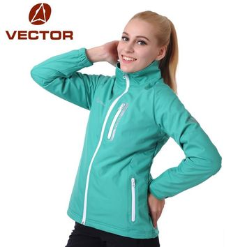 VECTOR Softshell Jacket Women Outdoor Windproof Waterproof Jacket Camping Hiking Jackets Windstopper Soft Shell Female 60009