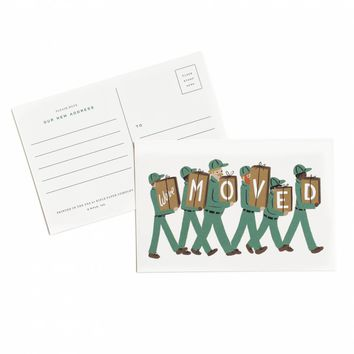 We've Moved Postcard by RIFLE PAPER Co. | Made in USA