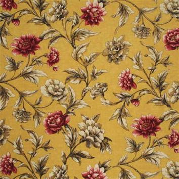 Mulberry Fabric FD252.T67 Gilded Peony Soft Yellow/Pink