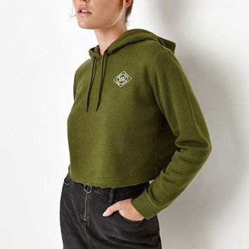 ICIKJH6 Young and Reckless Cropped Pullover Hoodie