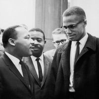 Martin Luther King Jr. & Malcolm X Washington DC March 26 1964 Art Print