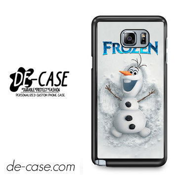 Disney Frozen Olaf Poster For Samsung Galaxy Note 5 Case Phone Case Gift Present