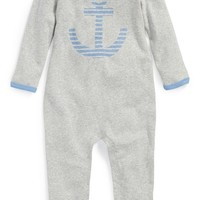 Infant Boy's Nordstrom Baby Heathered Romper