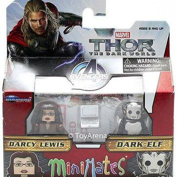 Marvel Minimates Series 53 Darcy Lewis and Dark Elf 2-Pack Action Figure